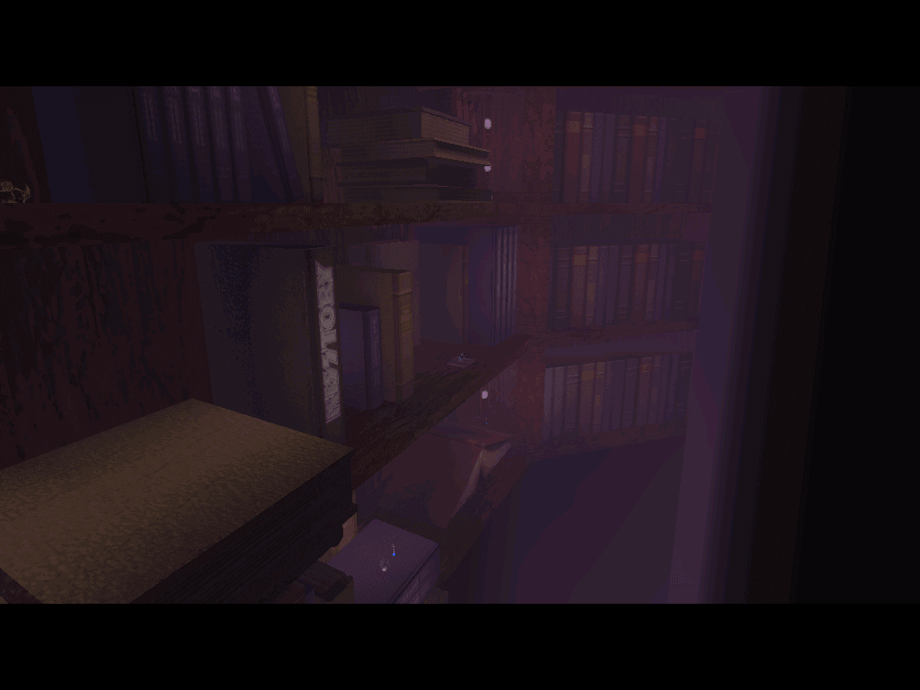 One of the levels started in a library nearby a cathedral, but suddenly I walked into a giant bookshelf without explanation. This happens a lot.