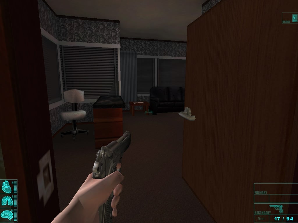 It's weird to be playing an FPS with a left-handed protagonist. What is this, Counter-Strike?