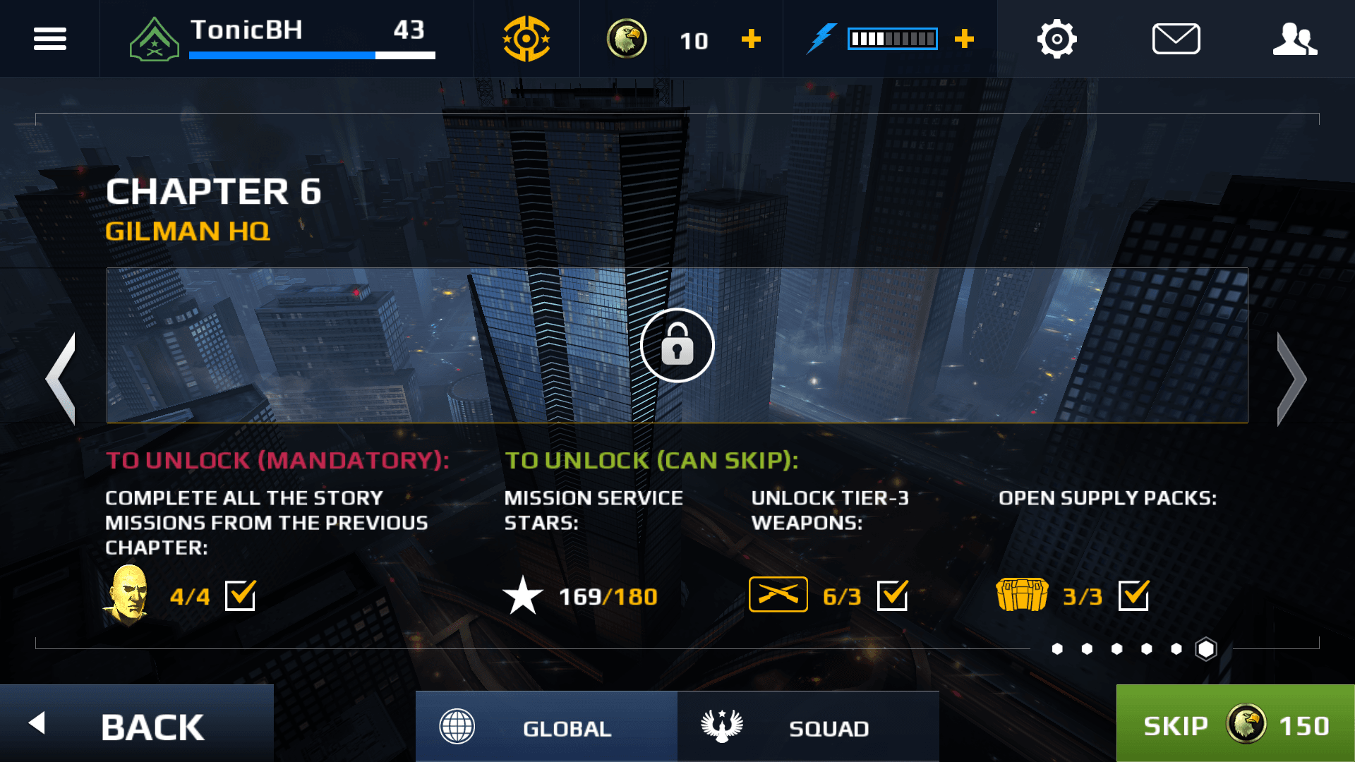Get used to seeing this, unless you wanna pony up the cash, or grind the same missions repeatedly.